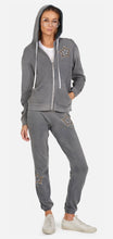 Load image into Gallery viewer, LM Star Studded Metallic Long Gia Sweat Pant Grey