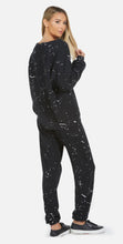 Load image into Gallery viewer, LM Tanzy Long Pant Air Brush Smiley Black/White Splatter