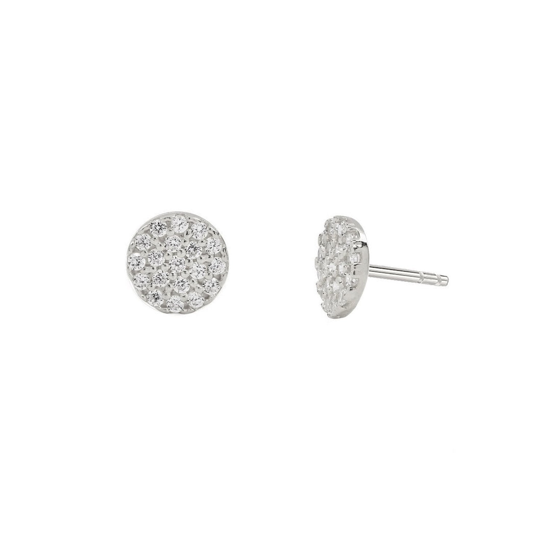 Dazzling Full Circle Stud Earrings