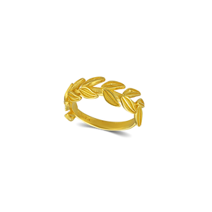 Karak Daphne Leaves Ring Single Band