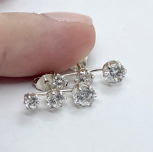 Load image into Gallery viewer, Sparkling Trio Stud Earrings