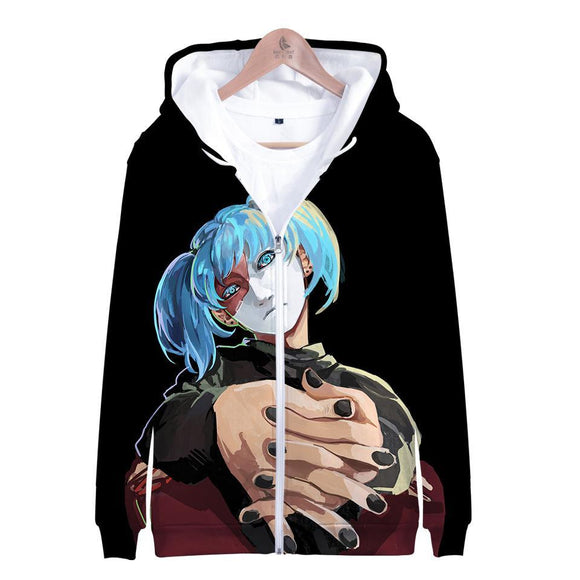 Unisex Sally Face Hoodies Long Sleeve Autumn Winter Sweatshirts Zip Up Clothes Tops