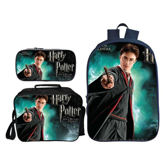 3Pcs Harry Potter School Bag For Boys Girls School Set Schoolbag