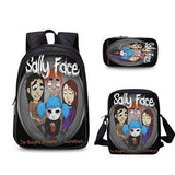 3Pcs Sally Face School Bag For Boys Girls School Set Schoolbag Back to School Gifts