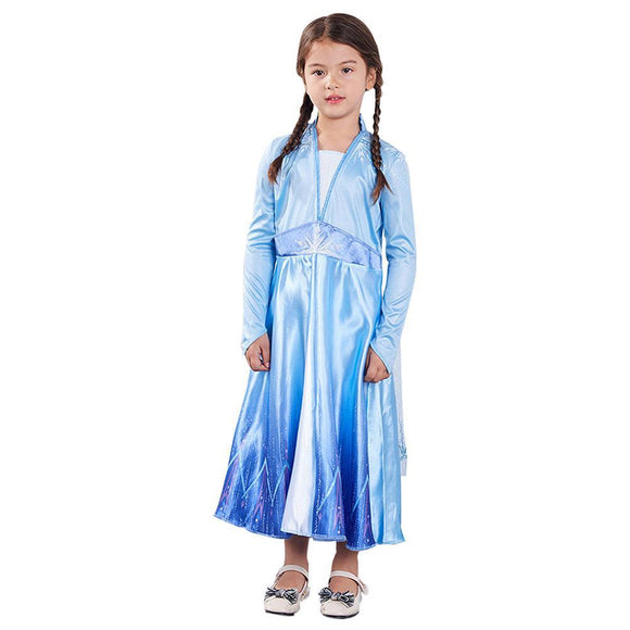 Kids Girls Frozen 2 Princess Elsa Dress Kids Toddler Dress Party Carnival Cosplay Dress
