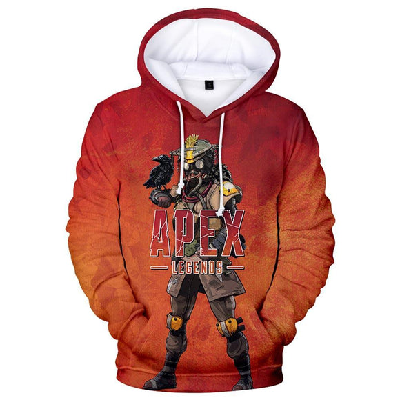 Unisex Bloodhound Printed Hoodies Apex Legends Pullover 3D Print Jacket Sweatshirt