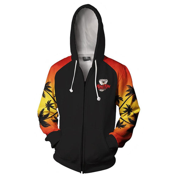 Unisex Hoodies Karate Kid Cobra Kai Zip Up 3D Print Jacket Sweatshirt