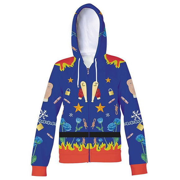 Unisex Harley Quinn Hoodies Birds of Prey And the Fantabulous Emancipation of One Harley Quinn Zip Up 3D Print Jacket Sweatshirt