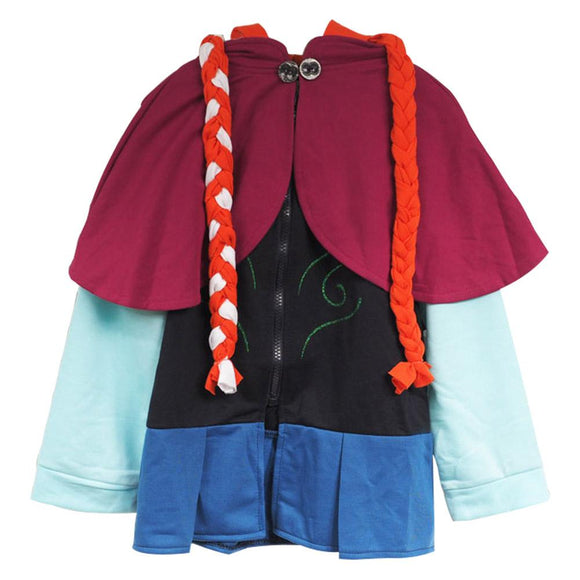 Frozen Princess Anna Hoodie Sweater for Girls Kids