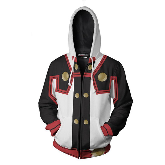 Unisex SAO Hoodies Sword Art Online Zip Up 3D Print Jacket Sweatshirt
