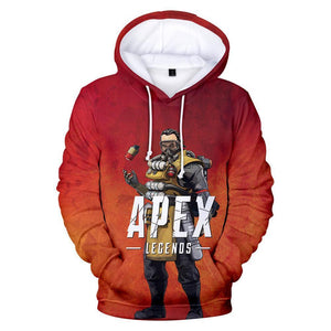 Unisex Caustic Printed Hoodies Apex Legends Pullover 3D Print Jacket Sweatshirt