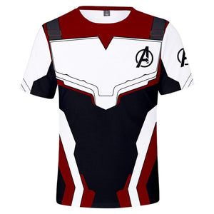 Unisex Avenger's Endgame Quantum Realm Cosplay Costume 3D Print T Shirts