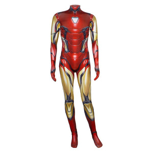 Avengers Endgame Iron Man Costume Full Set Cosplay Jumpsuit Halloween Bodysuit 3D Outfit