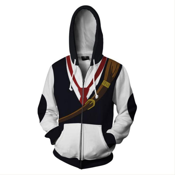 Unisex Meliodas Cosplay Hoodies Jacket Costume Halloween Zip Up 3D Print Sweatshirt