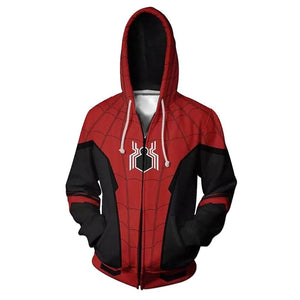 Unisex Spider-man Hoodies Far From Home Zip Up 3D Print Jacket Sweatshirt