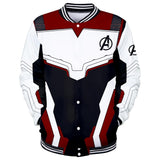 Avenger's Endgame Quantum Realm Cosplay Costume Baseball Jacket Long Sleeve Coat