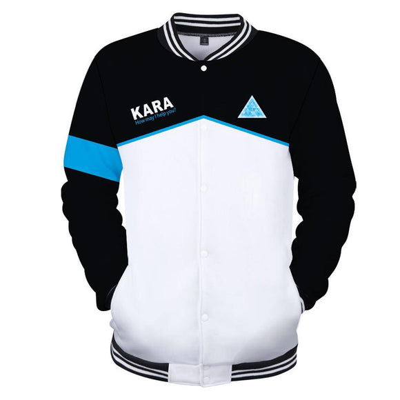 Unisex Jacket Detroit Become Human Kara/RK800 Baseball Uniform Jacket