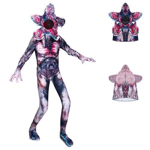 Kids Stranger Things 3 Man-eater Flower Demogorgon Jumpsuits Cosplay Halloween Costume Bodysuit