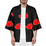 Unisex Naruto Akatsuki Organization Three Quarter Sleeve 3D Printed Shirt