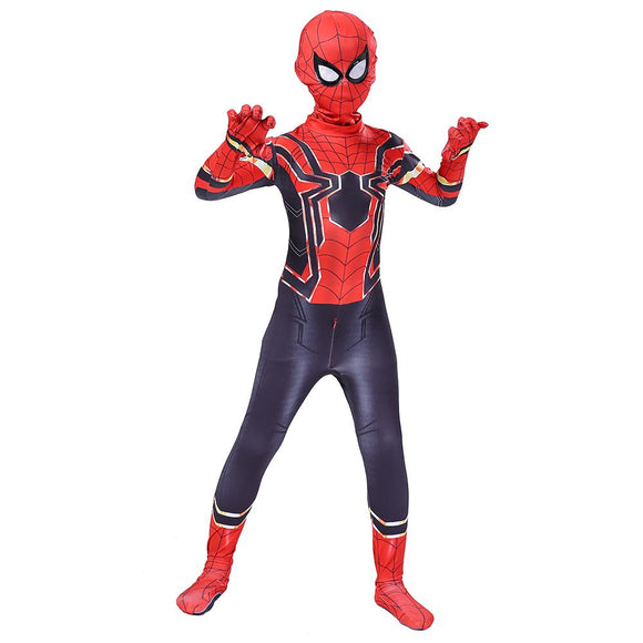 Kids Spider-Man Cosplay Costume Homecoming Avengers Far from Home Iron Spider Man