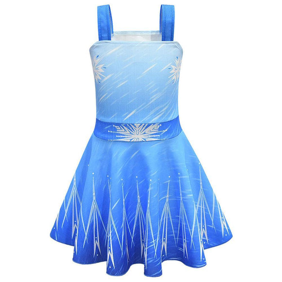 Girls Frozen 2 Princess Elsa Dress Summer Girls Clothing Children Christmas Birthday Party Cosplay Anna Skirt