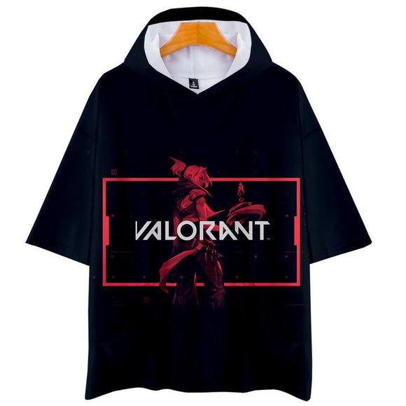 Unisex Game Valorant T-Shirts Men Women Cosplay Costume 3D Print Hooded Shirt