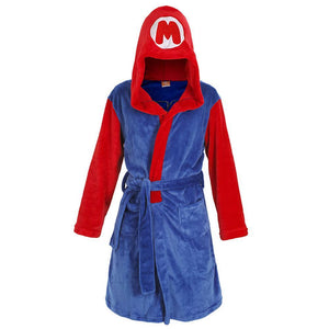 Adult Fannel Robe Unisex Super Mario Bathrobe Sleepwear Anime Game Cosplay Nightwear Pajamas