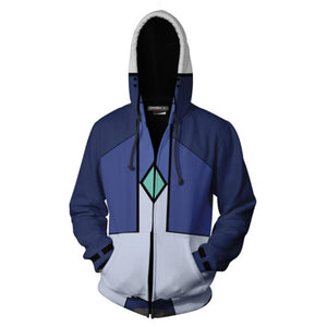 Unisex Setsuna F Seiei Hoodies Mobile Suit Gundam 00 Zip Up 3D Print Jacket Sweatshirt