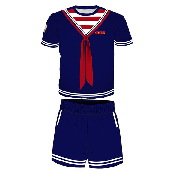 Stranger Things Season 3 Scoops Ahoy Steve T-shirt and Pants PJ Set