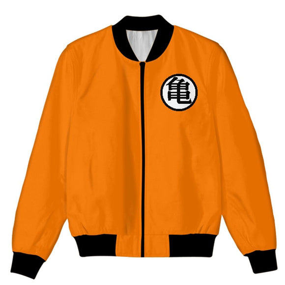 Dragon Ball Z Jacket Coat Son Goku Cosplay Costume Cartoon Zipper Sweatshirt