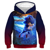 Kids Anime Hoodies Sonic Printed Pullover Jacket Sweatshirt