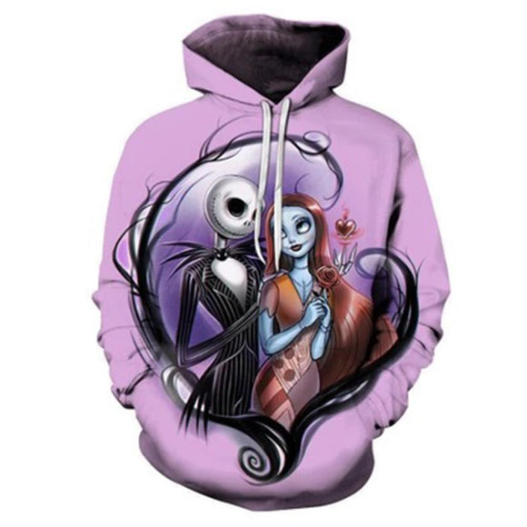 The Nightmare Before Christmas Hoodies 3D Print Men Women Sweatshirts Pullover Hooded Trackusits Casual Sweatshirt