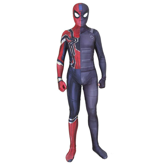 Halloween Spider-Man Jumpsuit Iron Spider-Man Stealth Battle Suit 3D Print Cosplay Bodysuit