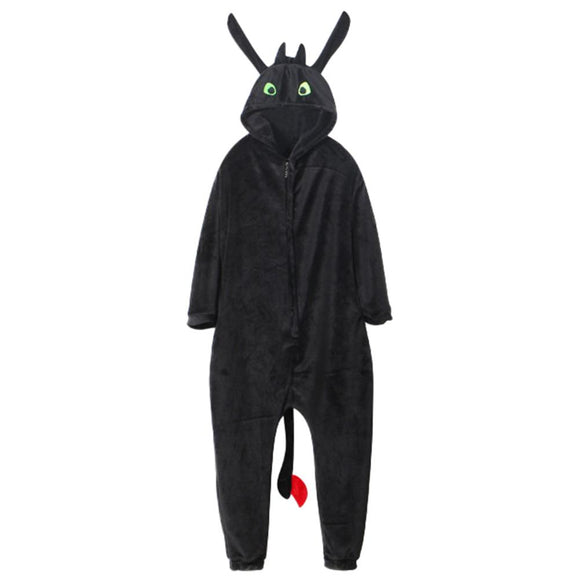 Unisex Long Sleeve How To Train Your Dragon Toothless Onesies Pajamas