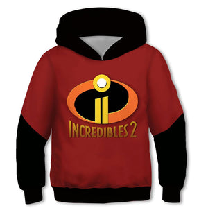 Kids Movie Hoodies The Incredibles 2 Pullover 3D Print Jacket Sweatshirt