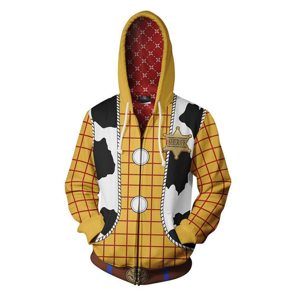 Toy Story 3D Sweater Cosplay Anime Zipper Cardigan Hooded Sports Jacket