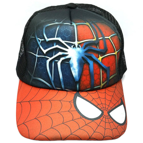 Boy Baseball Cap Spiderman Outdoor Sport Beach Holiday Mesh