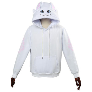 How to Train Your Dragon Light Fury Cosplay Hoodie 3D Printed Thin Sports Jacket