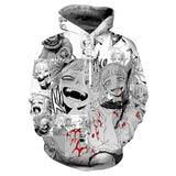 Unisex Hoodies My Hero Academy Himiko Toga Black-and-white Comic Zip Up Jacket Sweatshirt