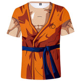 Men's 3D Dragon Ball Z Printed Goku Tight Short Sleeve Anime Tee
