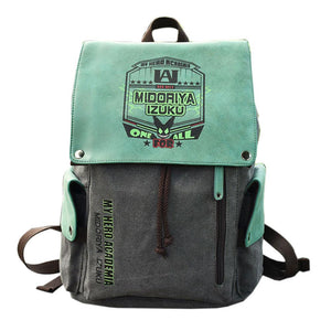 My Hero Academia Midoriya Izuku Cosplay Travel Shoulder Backpack Unisex Student School Bag