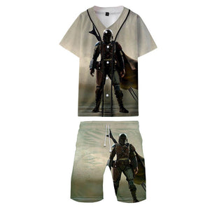 Unisex The Mandalorian 3D Printed Shorts Set Adult Tee Short Sleeve T-shirt