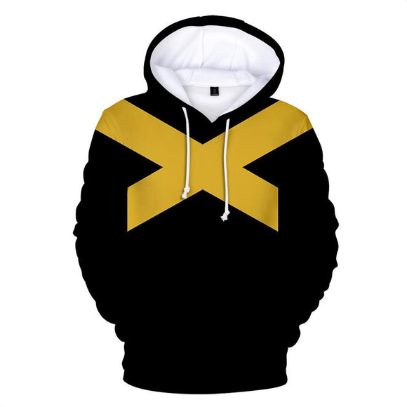 X-Men Dark Phoenix Costume Superhero Halloween Unisex Cosplay Pullover Hoodie Black