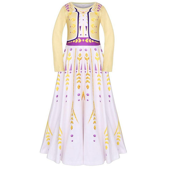 Frozen 2 Anna Princess Dress Kids Girls Birthday Party Queen Costume Christmas Fancy Anna Dress Up