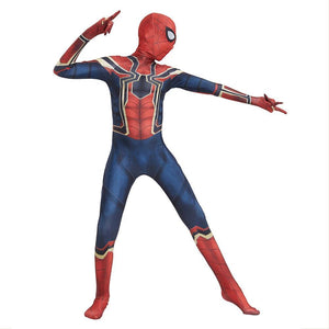 Kids Spiderman Homecoming Cosplay Rompers Costume Halloween Zentai Iron Spider Man Bodysuit Jumpsuits
