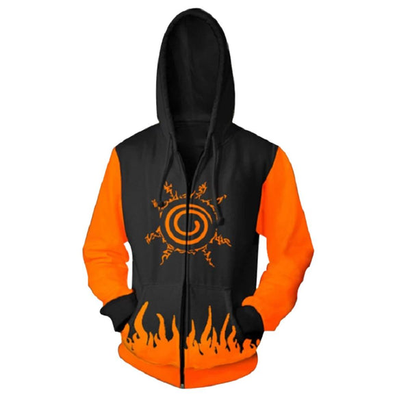 Unisex Anime Naruto Hoodies Men Women Winter Zipper Hoodie Sweatshirt Naruto 3D Hoody Tops