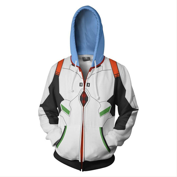 Unisex Ayanami Rei Hoodies EVA Zip Up 3D Print Jacket Sweatshirt