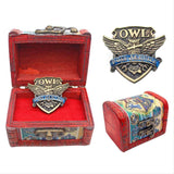 Harry Potter Wood Handmade Box Brooch Set