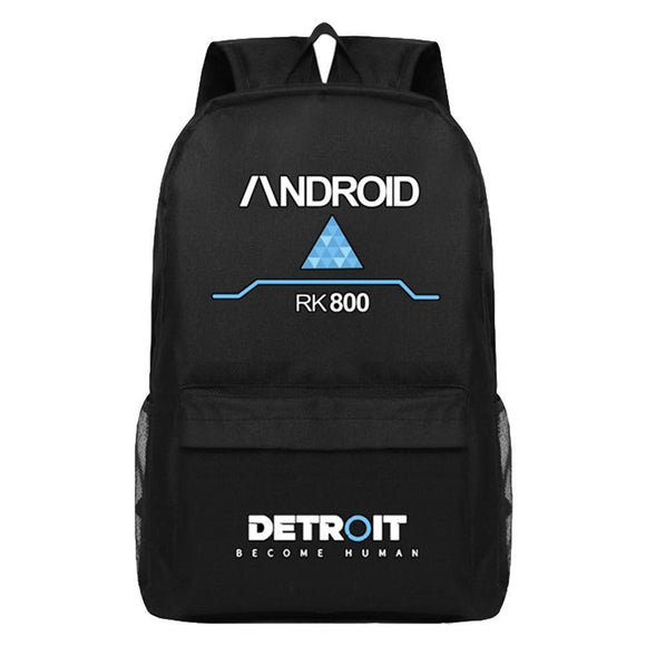 Detroit Become Human Backpack RK800 Canvas Bag School Bag