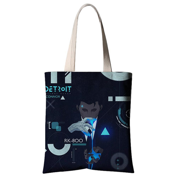 Game Detroit: Become Human Connor Canvas Single Shoulder Bag